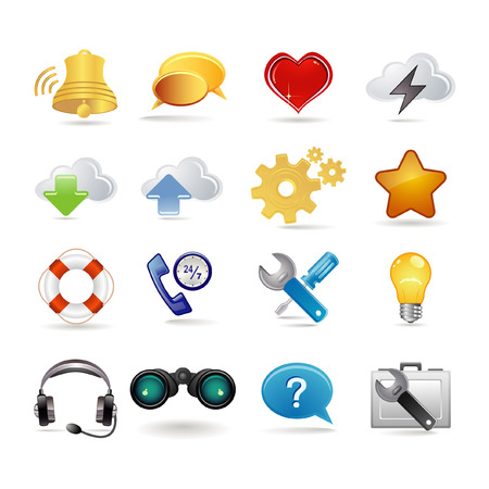 universal: Network and universal icon set Illustration