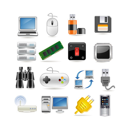 Illustration of technology icon set Illustration