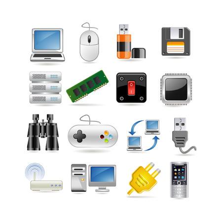 Ilustración de conjunto de iconos de tecnología