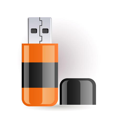 flash drive: Orange and black flash drive
