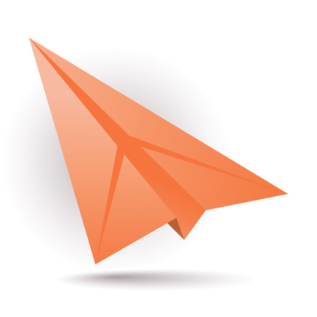 paper airplane: Orange paper plane