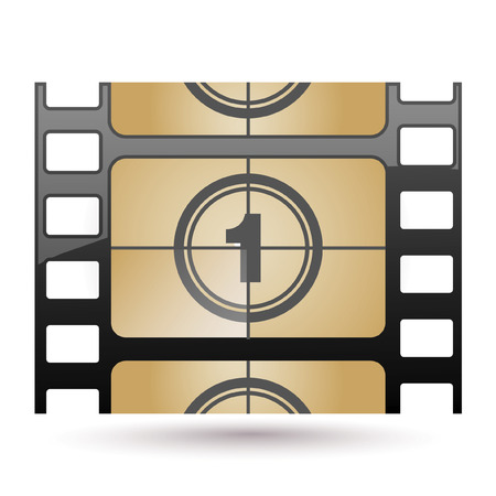 Film icon countdown Stock Vector - 7056315