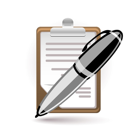 Pen and paper icon Stock Vector - 7056322