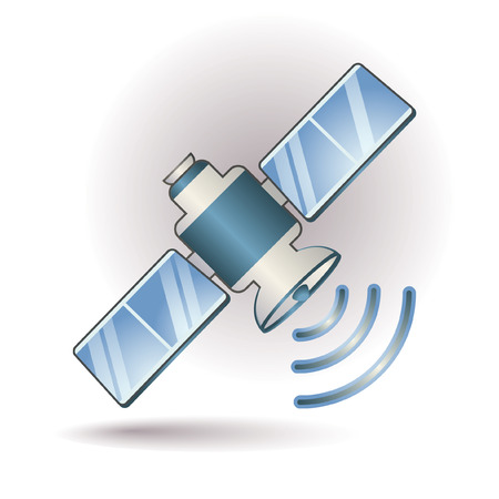 Satellite icon Illustration
