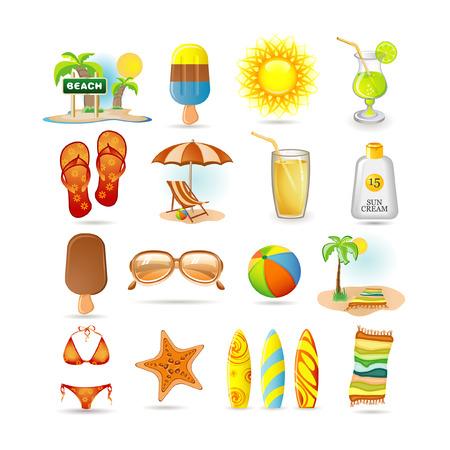 sonnenschirm: Strand-Icon-set