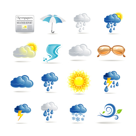 snow storm: Weather icon set