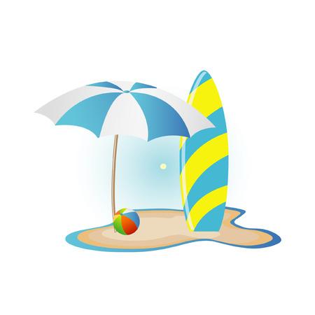 surfboard: beach icon