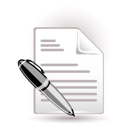 pad pen: Icono de documento y el l�piz