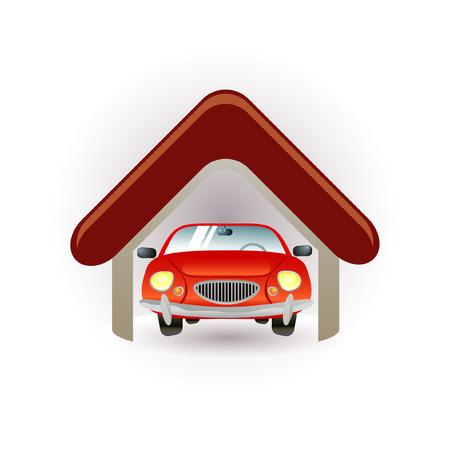 garage icon Stock Vector - 7289736