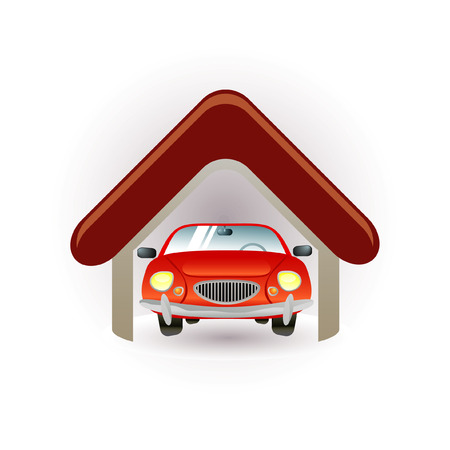 garage icon Stock Vector - 7289736