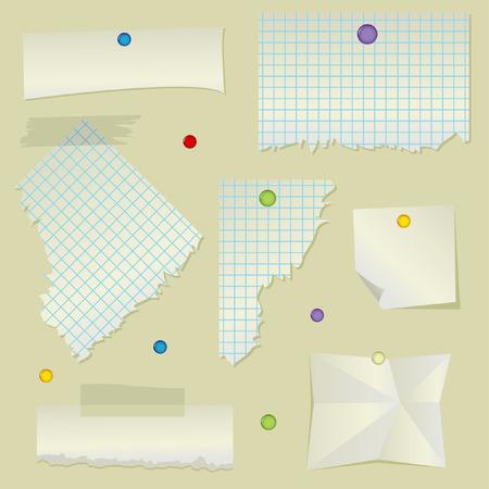 wrinkled paper: gescheurd en gerimpeld papier instellen