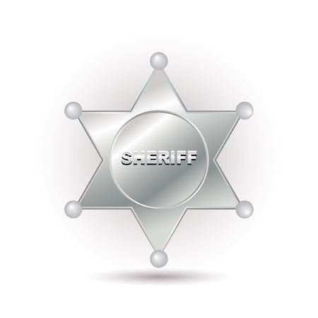 sheriff badge: Insignia del Sheriff  Vectores