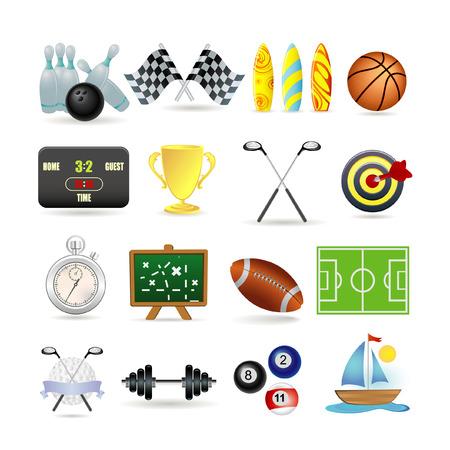 golf stick: Conjunto de iconos de deporte
