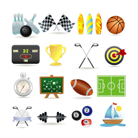 Sport icon set Stock Vector - 7289750