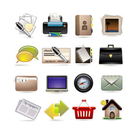 online business icon set Stock Vector - 7368448