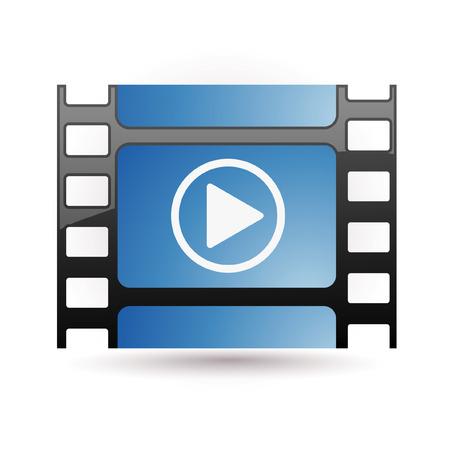 blue film icon Stock Vector - 7524828