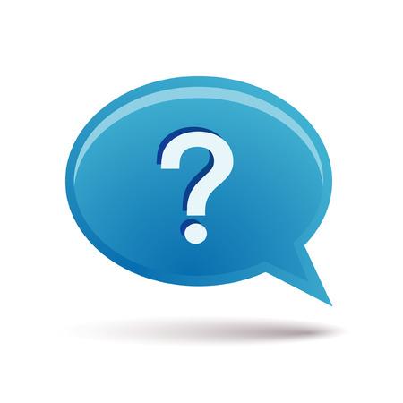 punctuation mark: burbuja y signo de interrogaci�n