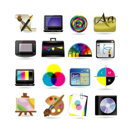 paper graphic: Graphic design icon set Illustration