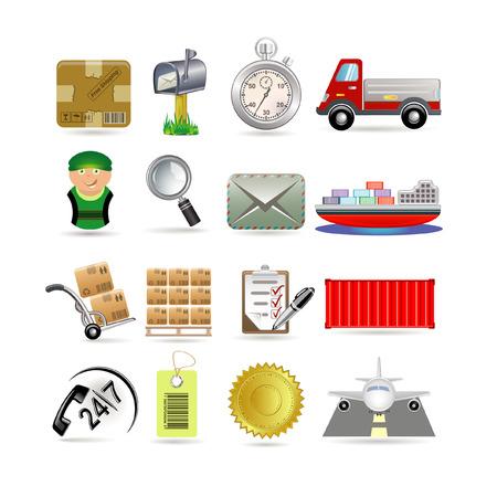 Delivery icon set Vector