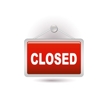 close to: closed sign Illustration