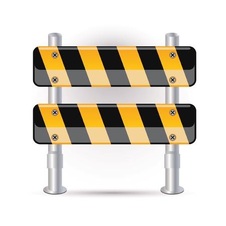 internet traffic: Illustration of street barrier