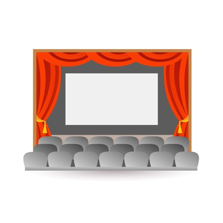theatre performance: movie stage theater Illustration