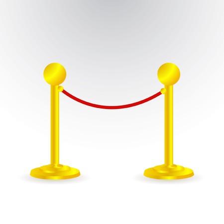 stanchion: velvet rope Illustration