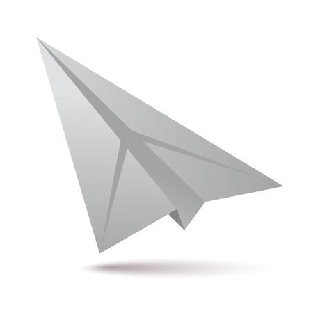 white paper plane Stock Vector - 7663991