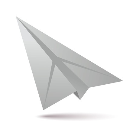 paper airplane: white paper plane