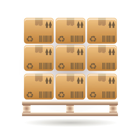 boxes icon Stock Vector - 7923458