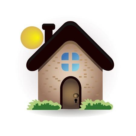 icône maison et soleil