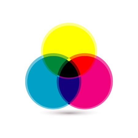 color chart: palette icon Illustration
