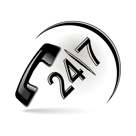 kunden service: Telefon-Symbol Illustration