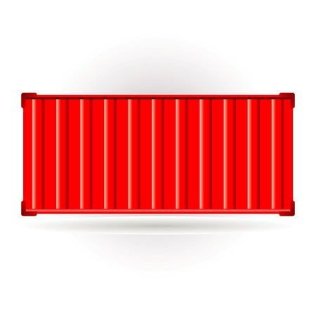 container port: red container