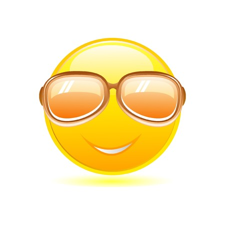 smiley with sunglasses Stock Vector - 7923493