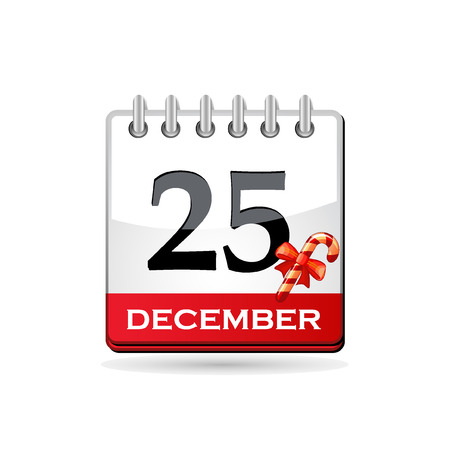 Christmas calendar with candy cane Vector