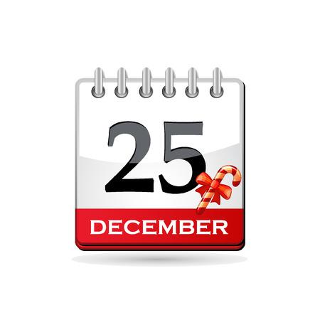 Christmas calendar with candy cane Stock Vector - 8126629