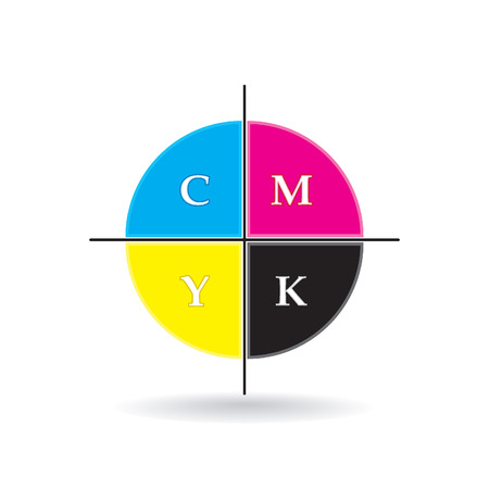 ziel icon: CMYK-Ziel-Symbol Illustration