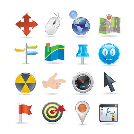 pointers icon set Illustration