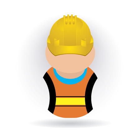 safety icon: worker icon Illustration