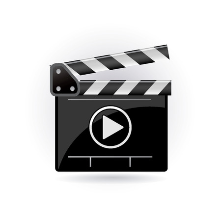 video screen: clapper board