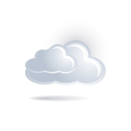 computer cloud: cloud icon Illustration