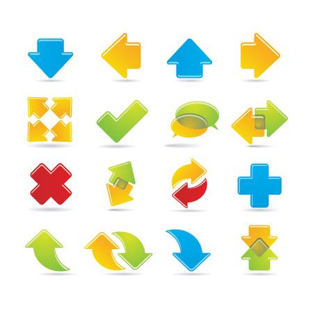 flecha azul: conjunto de flechas Vectores