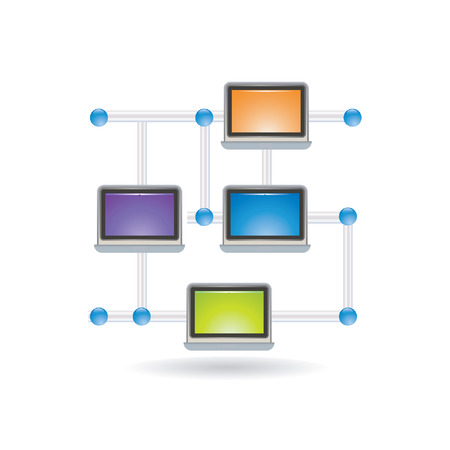 computer connection icon Stock Vector - 8198235