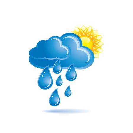 sun s: Pioggia e sole Vettoriali
