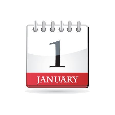 New year calendar  Illustration