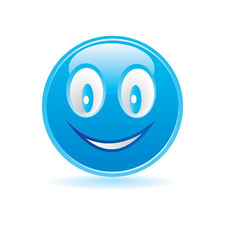 blue happy smiley Stock Vector - 8264806