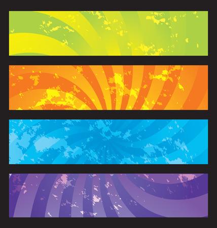 oscillation: banners de grunge  Vectores