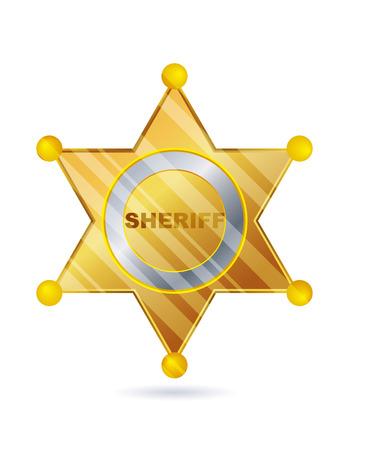 Gold Sheriff badge Vektorgrafik