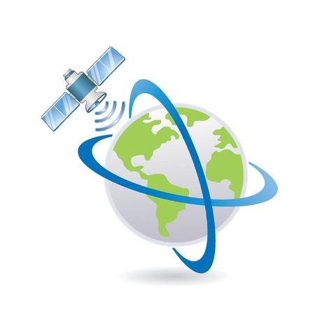 satellite above the Earth  Illustration
